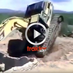 Grävaren råkar ut för olycka!!!