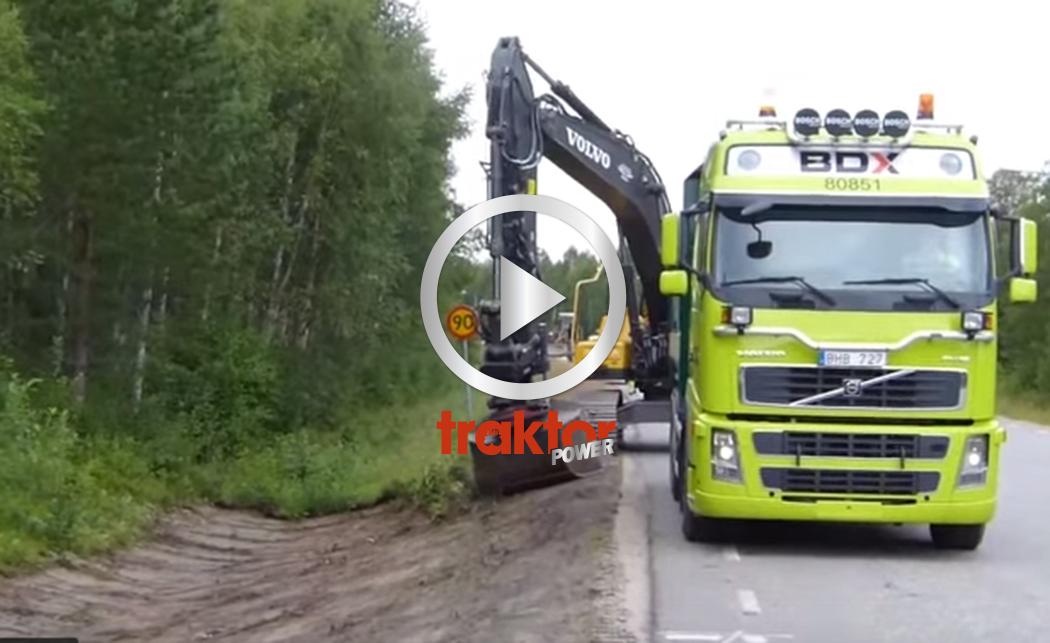 Se så snyggt diket blir med Oilquick Rototilt!!! Grävaren är en Volvo EC250DL!