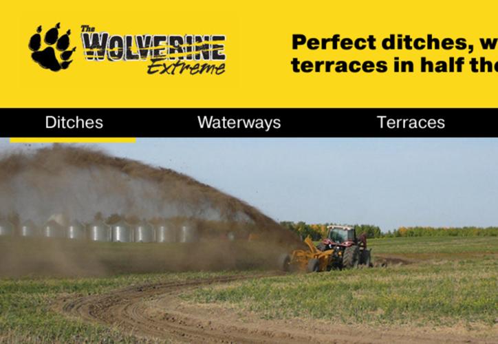 IVÄG MED JORDEN! Wolverine Extreme slänger iväg jorden jämnt fördelad över en stor yta.