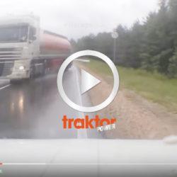 Lastbilen sladdar mot dig!!!