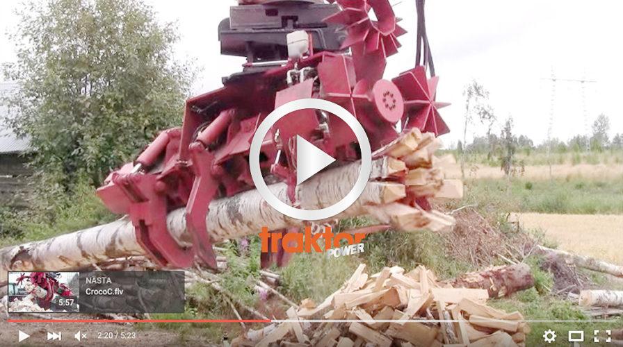 Så jobbar proffset på vedbacken!!! En finsk vedprocessor till grävaren!!!