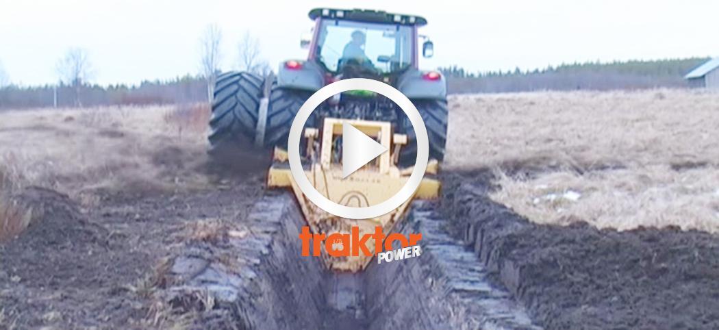 Så funkar en traktordriven dikesfräs!