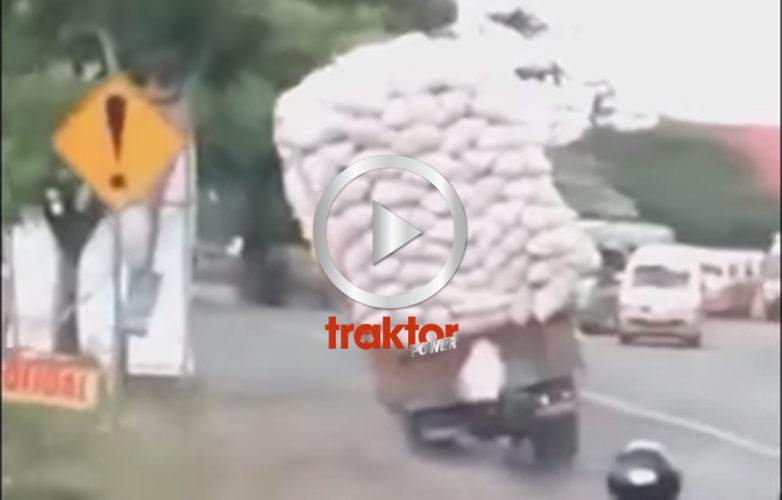 överlast och sidolut på lastbilen!!!