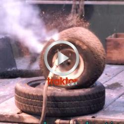 Vilken explosion! Så exploderar ett däck!!!