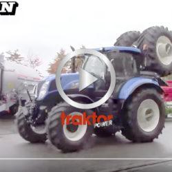 Hållare på traktorn för dubbelmontage!