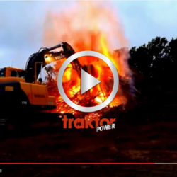 HUR nära elden kan du gå med grävaren???