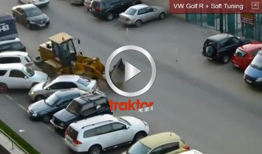 HUR stoppar du en hjullastare med galen förare i????