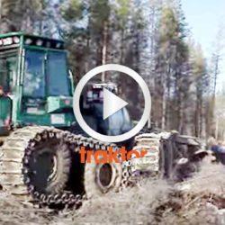 Kolla den finska jätten Lokomo 933 släppa loss med markberedningsaggregat!!!