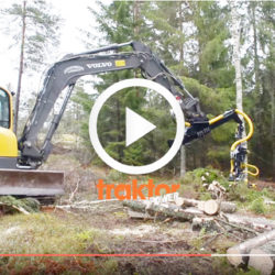 Volvo som skördare i skogen!