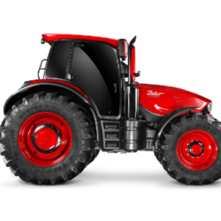 NYA ZETOR. Så här ser den Pinifarina-designade traktorformen ut i profil.
