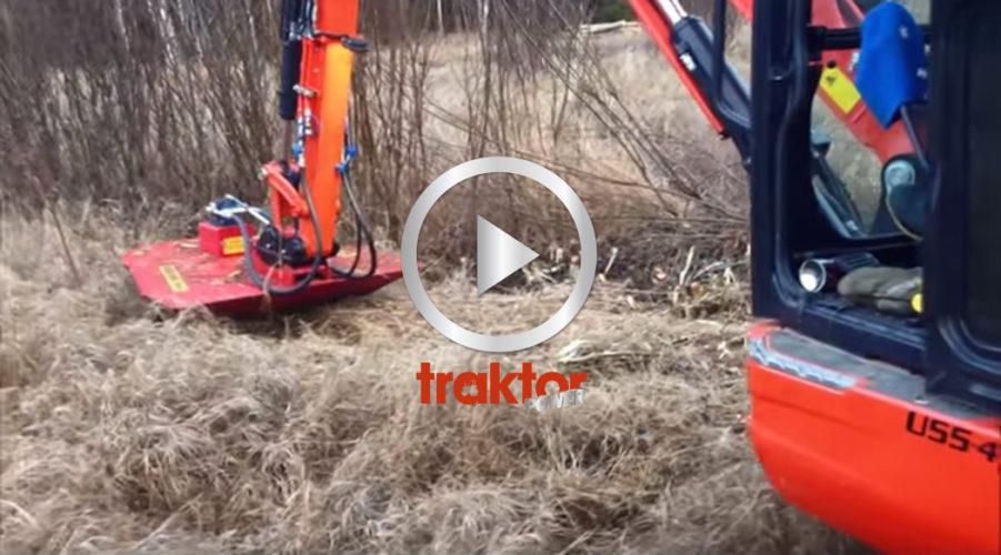 Grävaren funkar som slyröjare!!!