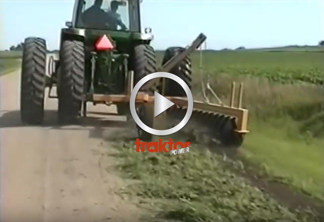 SÅ fixar du till vägdiket med en tallriksharv!!! Utrustningen passar traktor, väghyvel eller lastbil!