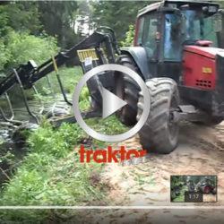 Så vänder du en Valtra med skogsvagn på en smal väg!
