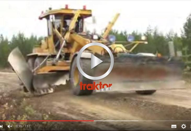 Tips på maskiner för att renovera grusvägen! Väghyvel, hjullastare med mera.