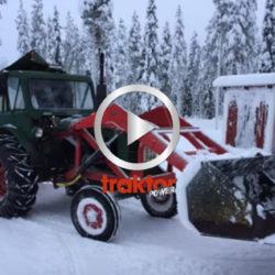 Victor-traktorn drar snöslungan!!!