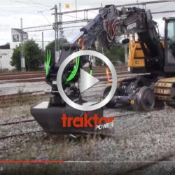 Volvo ECR145 Hy-Rail in action.