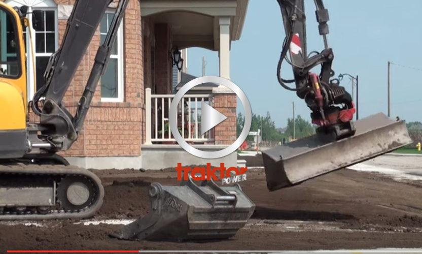 Volvo ECR88 med tiltrotator! Kolla hur grävarföraren jobbar!