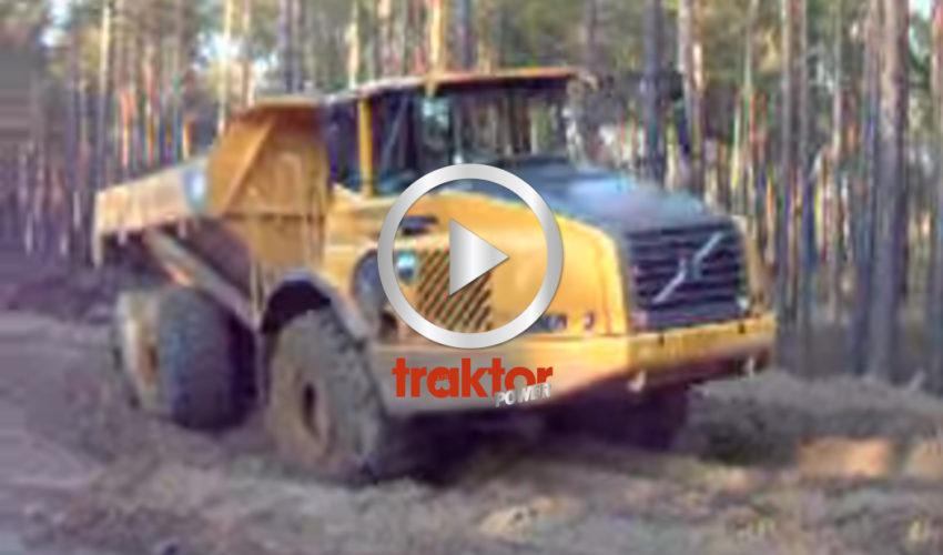 HÄNG med Volvo-dumpern ut på den ryska landsvägen!!! Gott med lera!!!