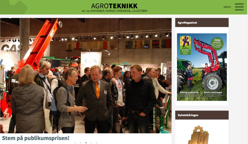Stora norska lantbruksmässan Agroteknikk!