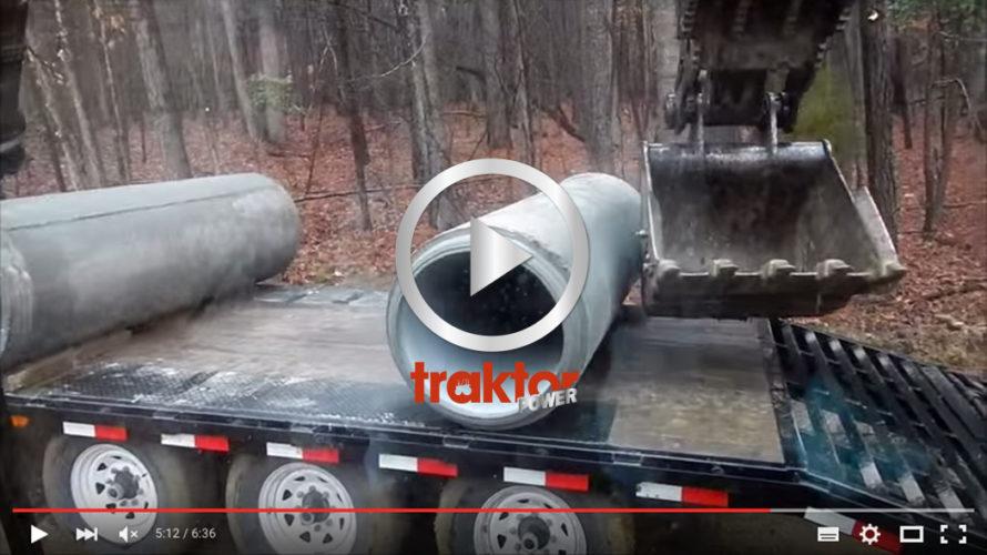 SÅ rullar du av cementrören från trailern!!!