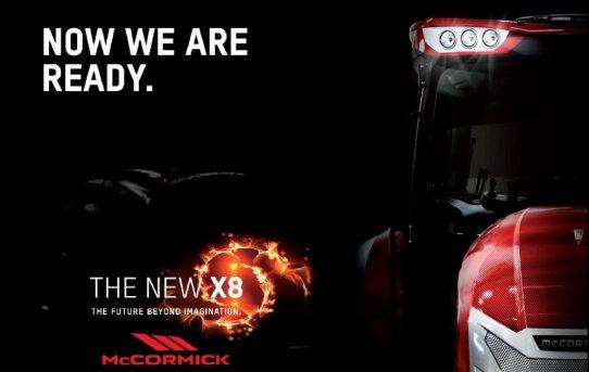 McCormick X8 på Agritechnica i Tyskland.