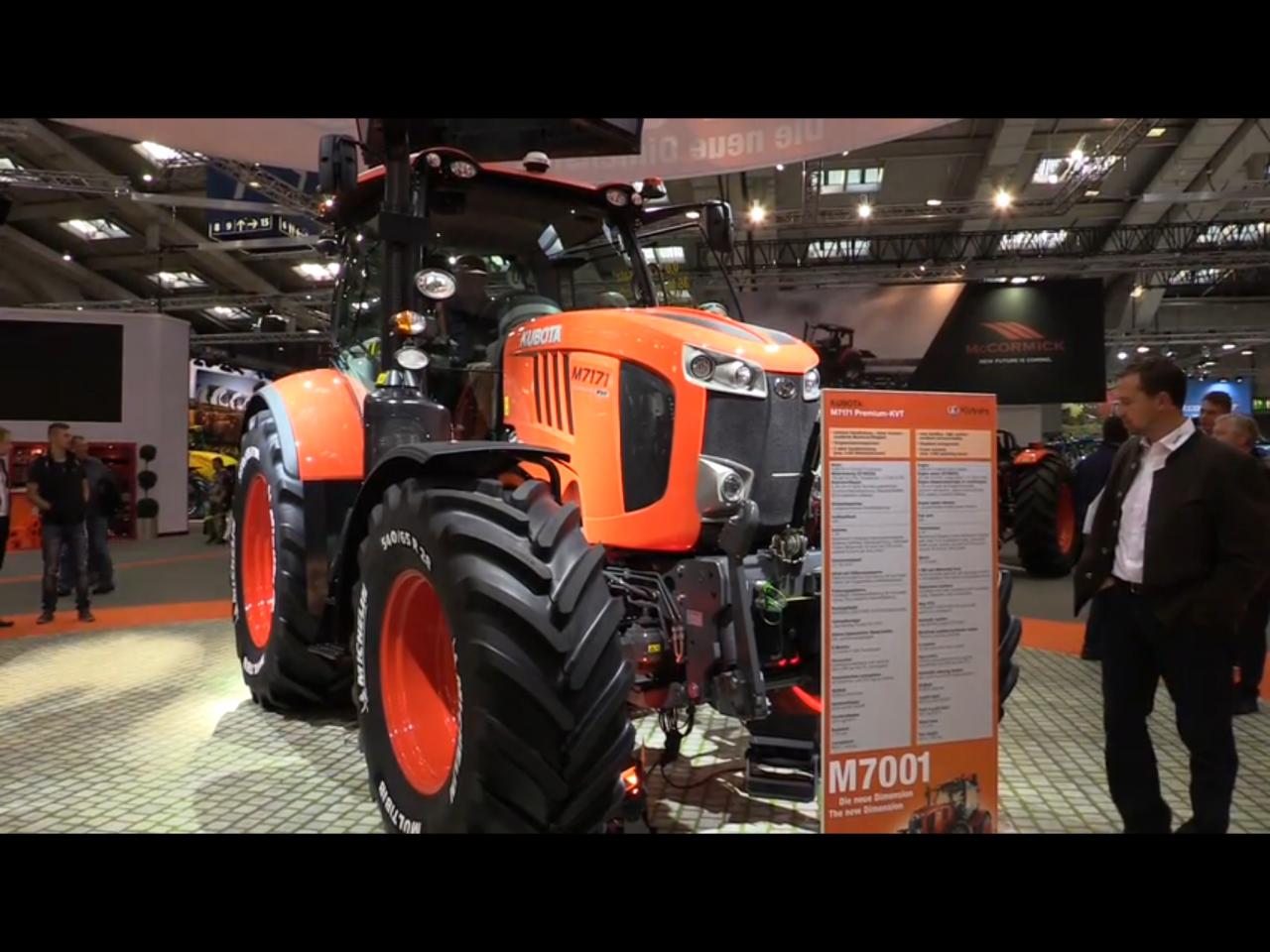 Nya Kubota visas på Agritechnica i dag!!!