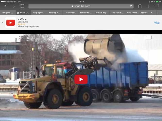 Volvo hjullastare med högtidsanförande skopa!