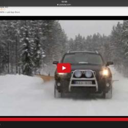 Stor snövinge på bilen! Vilken snöröjare!!!