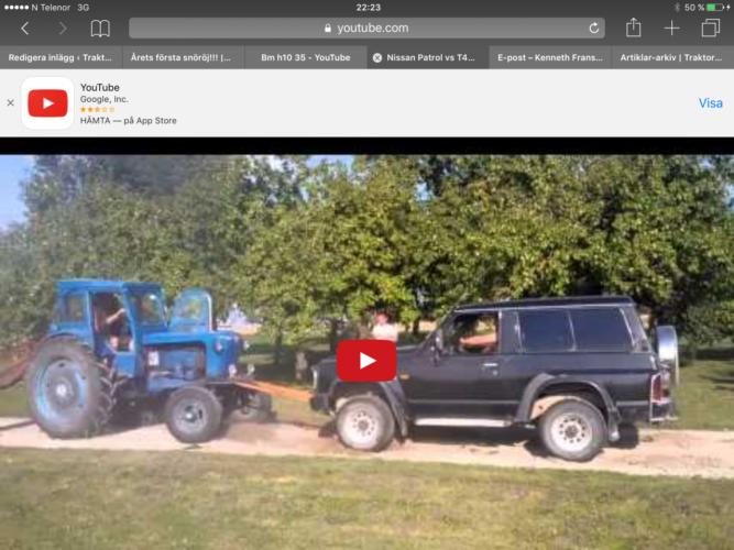 Nissan Patrol vs traktor!!!