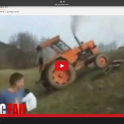 Så välter en traktor bakåt!