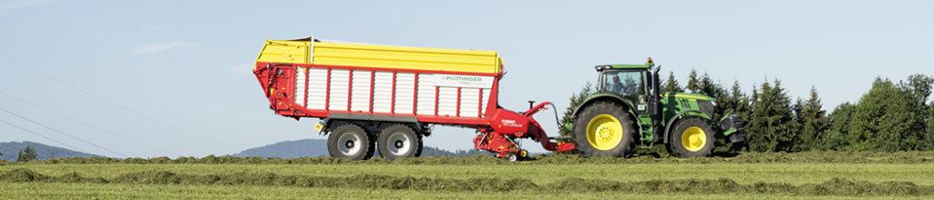 NY VAGN. Trejon och Pöttinger lanserar nya ensilagevagnen Torro Combiline.
