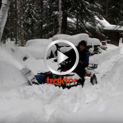 Här ser du hur den hembyggda snöslungan funkar i djup snö!!!