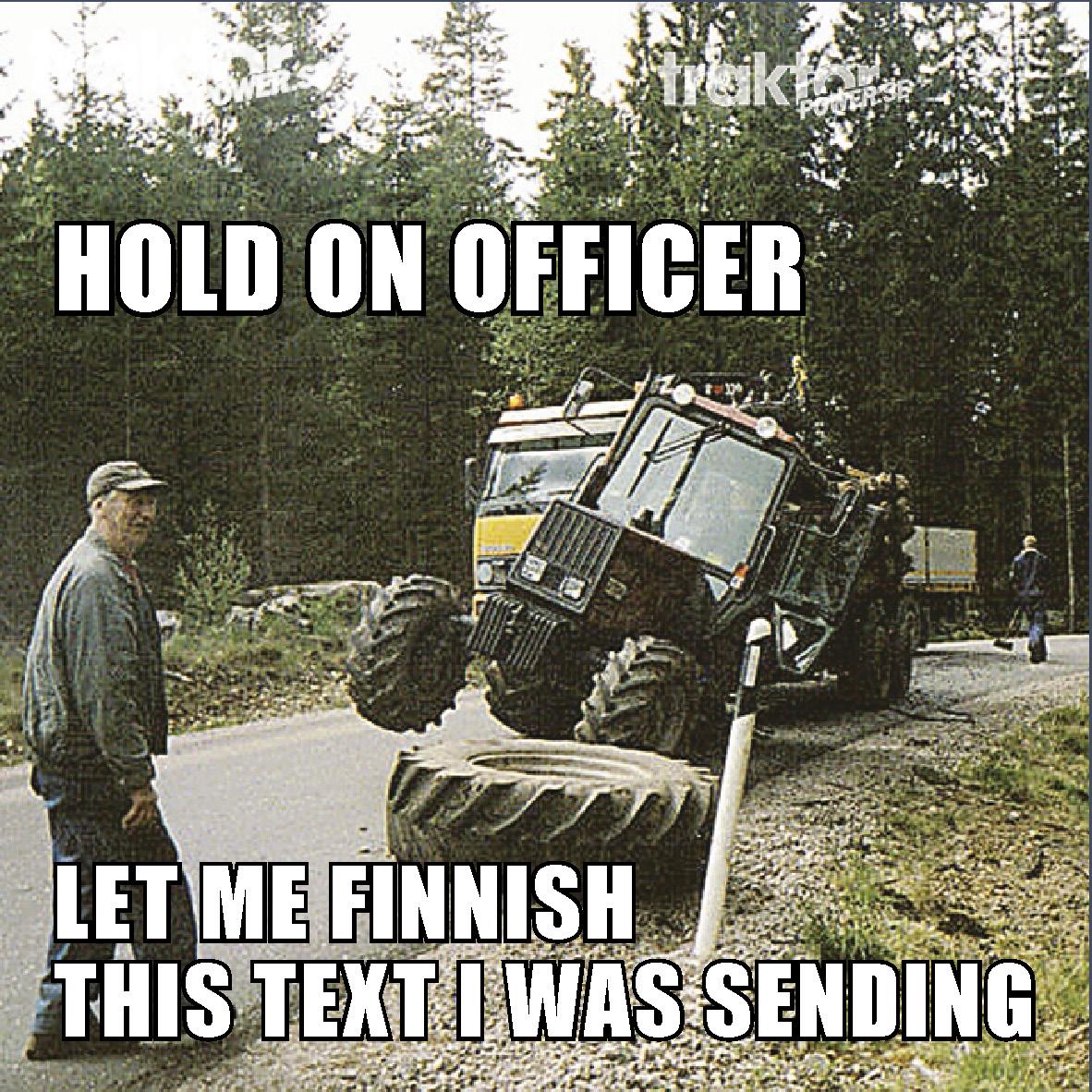 Tappat däck på traktorn är inte kul!