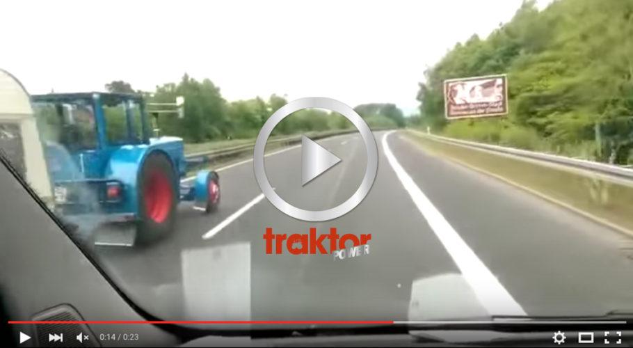 HAR du blivit omkörd på motorvägen av en traktor med husvagn!?!