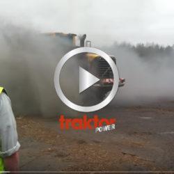 Volvo hjullastare brinner!