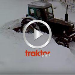 Det går sådär för den här snöröjaren i Estland!