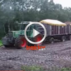 Tror du att Fendt-traktorn kommer i gång med två 18 tons vagnar baktill?