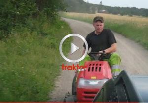 NY FLUGA!!! Köra om bilar med trädgårdstraktor!!!