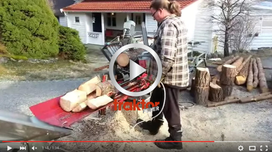 Titta hur den hembyggda vedmaskinen i Norge funkar!