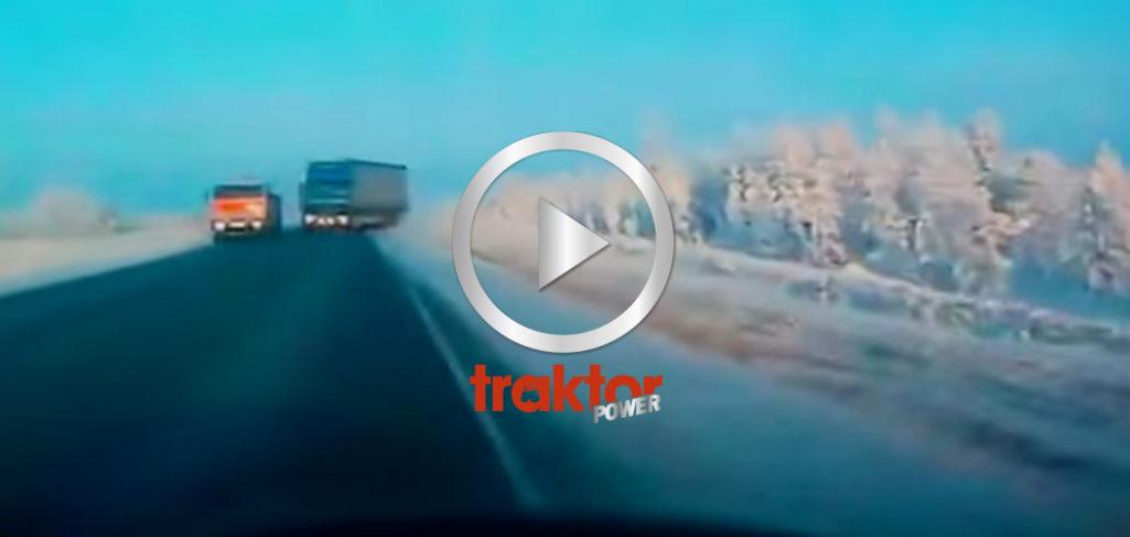Krock på gång med lastbil!