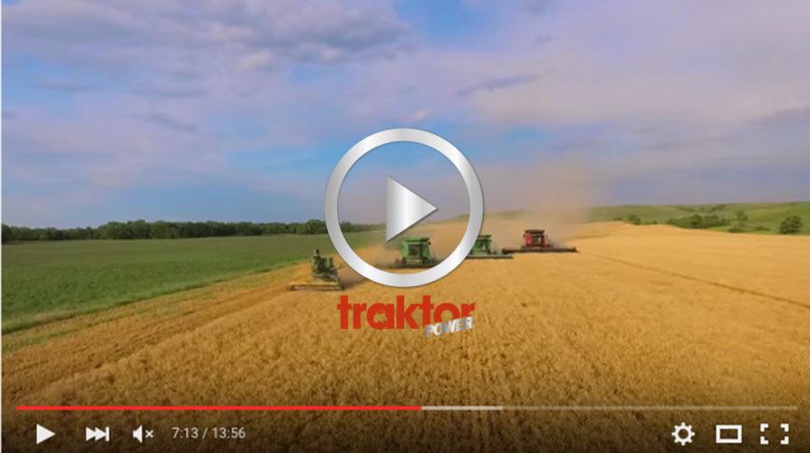 Kolla den gamla tröskan i täten!!!! Det är LaRosh Wheat Harvest 2015!