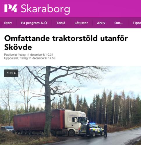TVÅ HÄKTADE. De två män som greps i fredags efter maskinstölderna natten innan häktades i Skövde igår, rapporterar P4 Skaraborg.