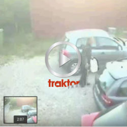 Här har en bensinslangare fångats på videokameran! Listigt med kryckan!