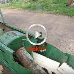 Traktordriven vedklyv!!!