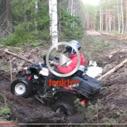 En fyrhjuling ska ta sig över diket! Hur går det?