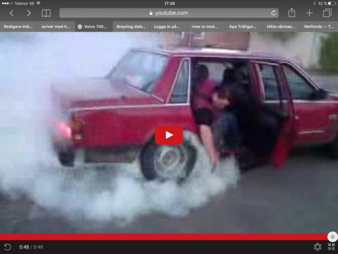 Så burnar du med en Volvo!