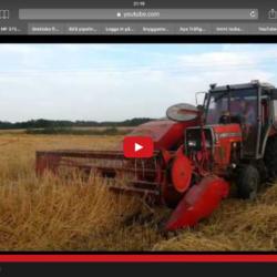 En MF-traktor är motor i JF-tröskan.