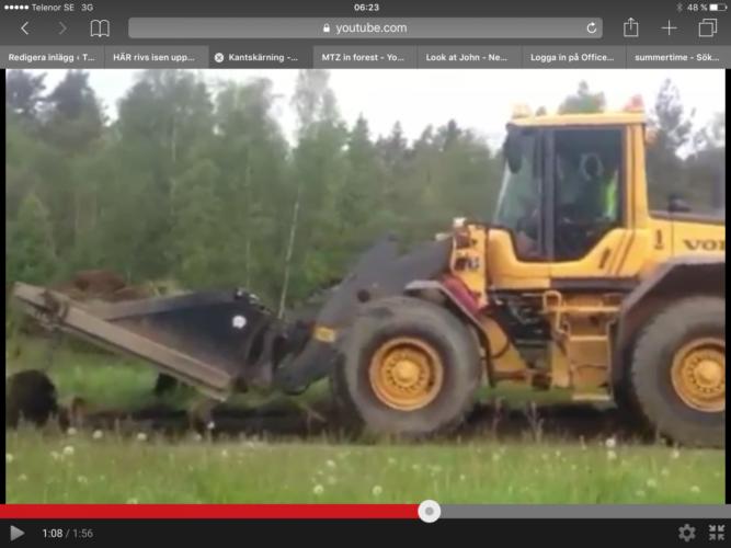 Volvo hjullastare på grusjakt!