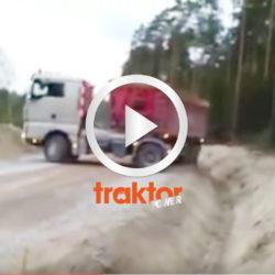 Föraren vänder lastbilen på den smalaste grusvägen!!! SÅ GÖR MAN!!!