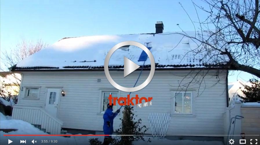 Så får du ned snön från ditt hustak!